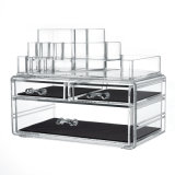 Luxury Clear Acrylic Cosmetic Display Stand Makeup Holder (H. 22541cl-2)