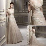 2013 off-The-Shoulder Cathedral Train Applique Wedding Dress for Bride (7050)