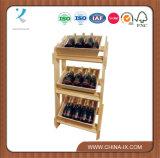 Retail Wooden Display Rack & 3 Large Wooden Trays Set