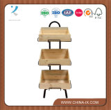 Mobile Display Stand Plus Three Slanted Wooden Crates