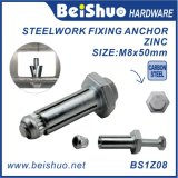 Steel Construction Fastener Fix Bolt with Zinc Plated