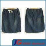 Elegant Straight Ladies Denim Skirt (JC2048)