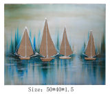New Design Sailing Boat Oil Painting on Canvas for Home & Hotel Decor (LH-700637)