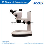 Monocular Stereo Zoom Lens for Electron Microscopic Instrument