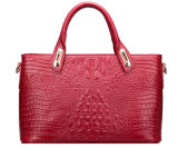 New Style Alligator Cowhide Genuine Leather Fashion Brand Wholesale Lady′s Handbag
