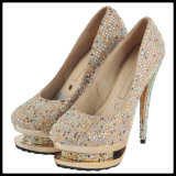Diamond High Heel Ladies Wedding Shoes (HCY07-001)