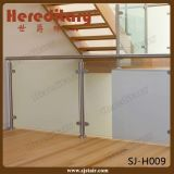 Ce Certificated Frosted Stainless Steel Glass Railing for Balcony (SJ-H009)