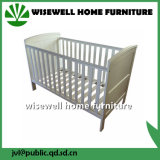 Pine Wood Infant Cot for Baby Room Furniture