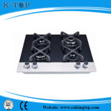 4 Burners Kitchen Gas Hobs, Glass Top with Tempered Glass Panel