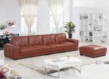 Thailand Home Furniture Leather Sofa Set (Yj6802)
