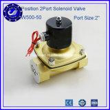 2 Way 2 Position 2 Port 2 Inch 2W500-50 Air Brass Solenoid Valve for DC24V DC12V