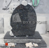 Granite Children Monument / Headstone with Bear Carving