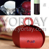 Wedding Lucky Red Iridescent Paper Cand Box Pearl Pigment