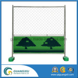 Temporary Fence Panel with Welded Wire Mesh Green