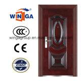 Heatransfer Wood Color Hot Sell Steel Security Door (W-S-26)