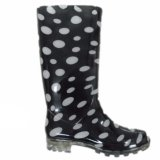 PVC Clear Fashion Women′s Rain Boots (JMC-359F)