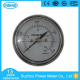 60mm Chrome Plating Case Back Type Low Pressure Gauges Gold Supplier