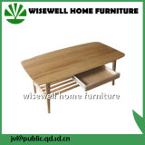 Solid Oak Wood Living Room Coffee Table with Drawer (W-T-857)