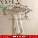 G-1127 Bathroom Hardware Chrome Brass Towel Shelf with Foldable Function