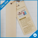 Printed Logo Custom White Paper Hangtag with Upc