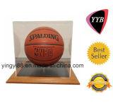 Clear Acrylic Basketball Display Box with Wood Base (YYB-887)