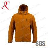 Hot Sale Men Tech Wearproof Breathable Softshell Jacket (QF-444)