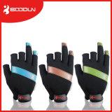 Non Slip Fishing Equipment 3 Half-Fingers Waterproof Fishing Gloves