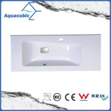 Square Shaped White Color Polymarble Basin
