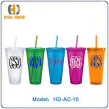 455 Ml Acrylic Cup with Straw (HD-AC-16)