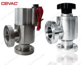 Vacuum Angle Valve with Highly Chemical Resistant Manual Coating PTFE Teflon Coating