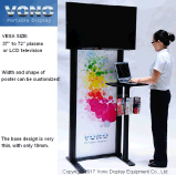 "Exibition TV Stand Products 32"" to 70"" Trade Show Display"
