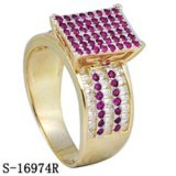 Sterling Silver American 14k Plated Cubic Zirconia Rings
