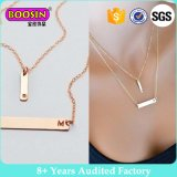 Custom Name Engraved Horizontal Bar Pendant Necklace Personalised Layer Gold Bar Necklace Jewelry