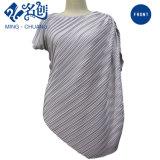 Newstyle Gray Diagonal-Stripe Fashion Summer Women Blouse