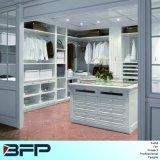 White Classical Walk in Closet Cloakroom Storage Cabinet