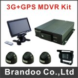 China Factory 4CH Ahd 720p HDD SD Card Vehicle DVR with 4 Camera Kit