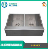 Handmade Res-3302 Stainless Steel Farmhouse 18ga Kitchen Sink