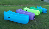 Lazy Nylon Foldable Inflatable Air Sleeping Sofa Bed for Camping (G055)