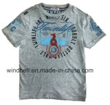 Fashionable Cotton T-Shirt for Boy with Melange Fabric