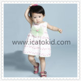 Smocked Dress Pink Floral Pattern Baby Girls Dress for Infant