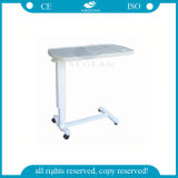 AG-Obt002 with Silent Wheels Height Adjustable Hospital Over Bed Table