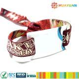 Custom NFC NTAG213 Fabric Event Wristband with Vinyl Tag