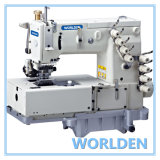 WD-1508P Flat Bed Double Chain Stitch Machine With Horizontal Looper Movement Mechanism