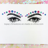 Fancy Custom Iridescence Rhinestone Crystal Face Tattoo Sticker (S025)