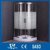Round 900X900mm Printing Glass Shower Cabins