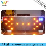 Aluminum 1200*400mm Truck Mounted Road Safety Traffic Arrow Light Board