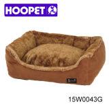 Luxury Fake Fur Brown Dog Bed Pet Cushion