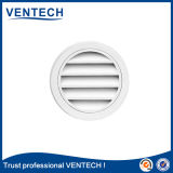White Color Waterproof Round Louver for HVAC System
