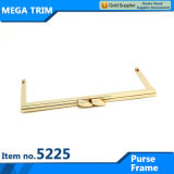 No, 5225 Bag Accessory Purse Frame with Kiss Lock Light Gold Metal Delivery by Air Ship and Express