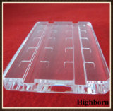 Customized Clear Silica Quartz Glass Plate Board with Groove